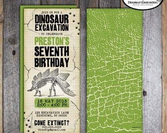 Dinosaur Invitation | Dinosaur Invite | Dinosaur Birthday Invitation | Dinosaur Excavation Party Invitation | Address Labels | Printable