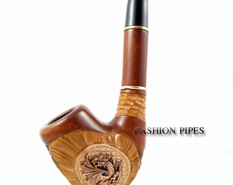 "New *SALES* Exclusive Pipe ""DRAGON"", Tobacco Pipe - Smoking Pipe Engraved. The Best Gift Hand Carved, Limited Edition"