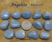Angelite (medium) tumbled stone crystals