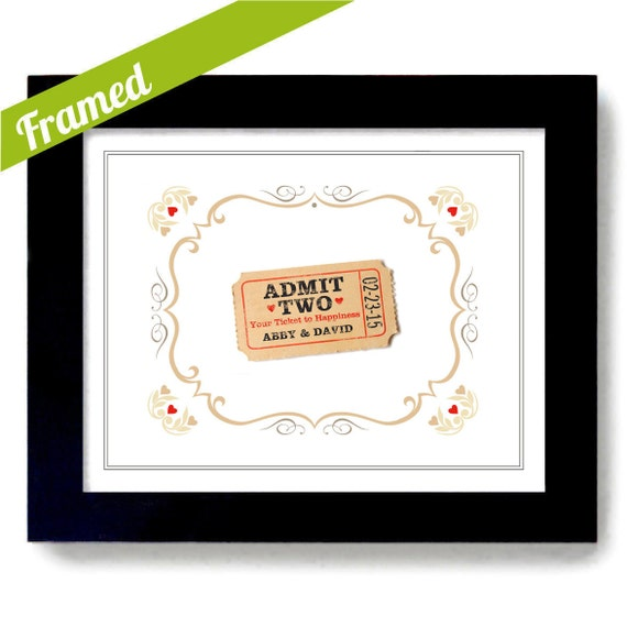 Wedding Gifts For Country Couple : Country Chic Wedding Gift Love Ticket for Two Unique Engagement ...