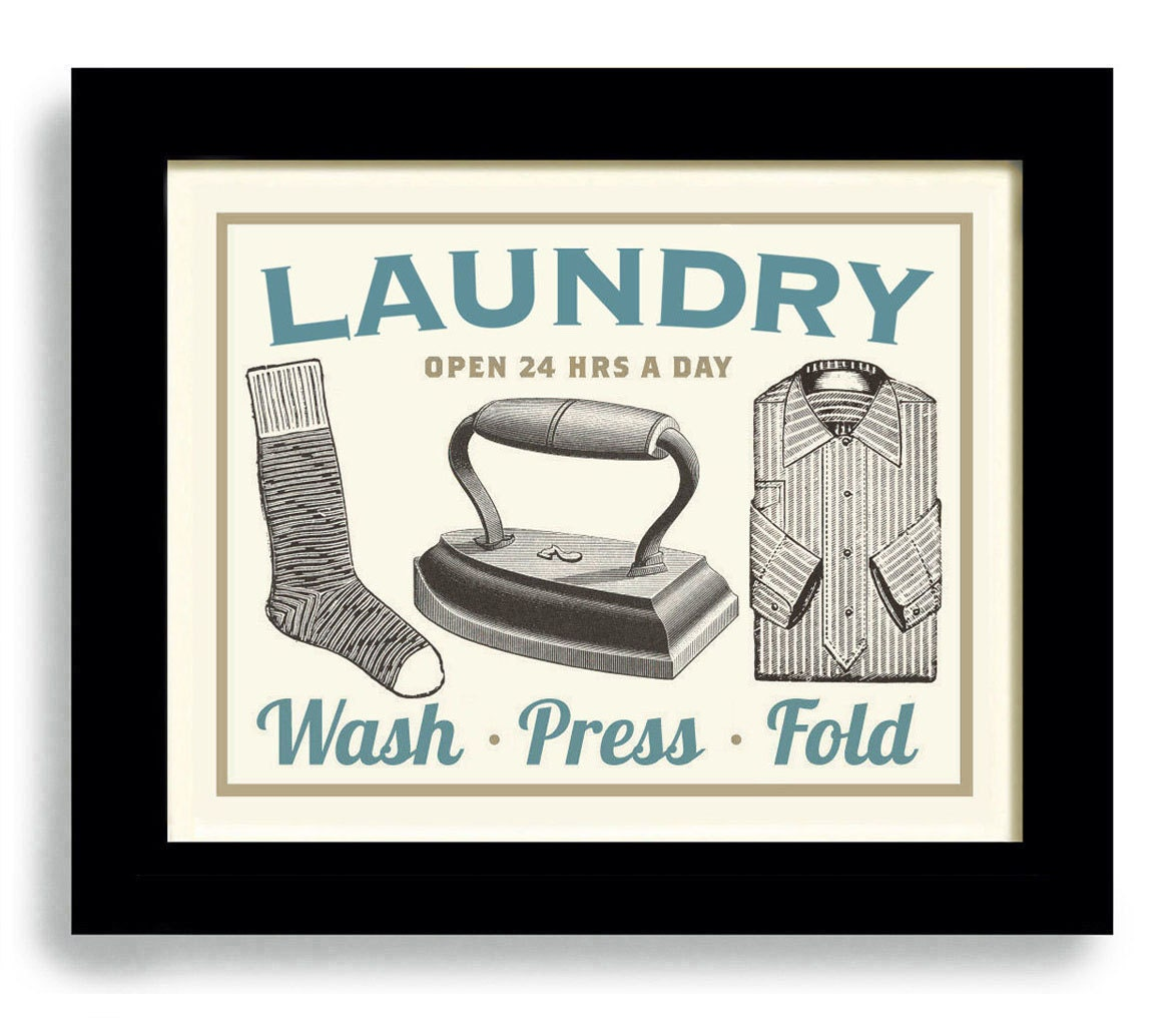 This is a graphic of Sizzling Laundry Room Print