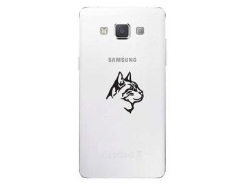 Cat Profile Cell Phone Decal Pet Feline Sticker- C406