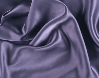"42"" Wide Stretch Silk Charmeuse Amethyst Purple By the Yard"