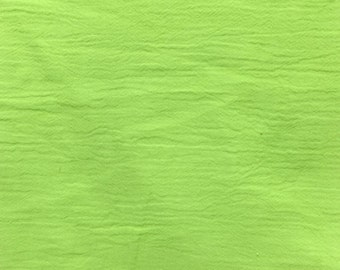 """54"""" Lime Green Cotton Gauze Fabric-15 Yards Wholesale by the Bolt"""