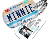 Alabama License Plate Pet Tag - Personalized Dog Tags for Pets, Cute Dog Tags, Custom Tags, Dog Name Tag, Dog Tags for Dogs, Dog License Tag