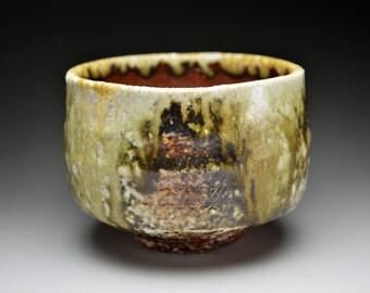 Shigaraki, anagama, ten-day anagama wood firing, with natural ash deposits tea bowl. chawan-75