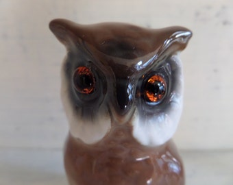 Owl -- West Germany -- Glass Eyes -- Wise Owl