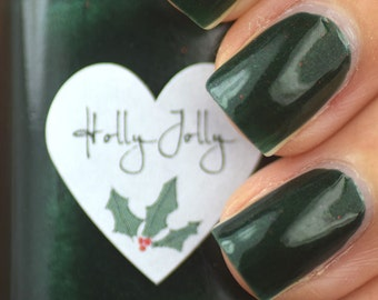 Holly Jolly Green Shimmer Nail Polish 15ml (.5oz)