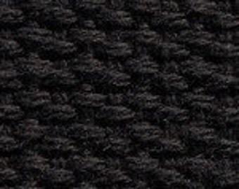 "1.25 "" Cotton Webbing by the yard, Black Webbing, Key Fob Webbing, Purse Straps, Belting"