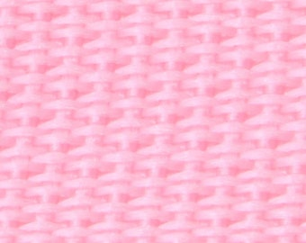 "1.25 "" Cotton Webbing by the yard, Pink Cotton Webbing, Key Fob Webbing, Purse Straps, Belting"