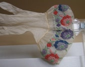 Petit  Point hand Embroidered Edwardian Gloves 1900s must see
