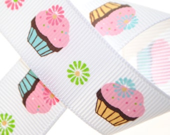 Cupcake Grosgrain 7/8 inch wide - Five, Ten, or Twenty Yards