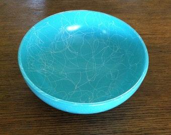 Retro bowl - mixing bowl - Teal bowl