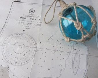 Nautical Decor:  Vintage Nautical Chart - West Indies Hispaniola - North Coast Dominican Republic Port Sosua AUTHENTIC NAUTICAL CHART