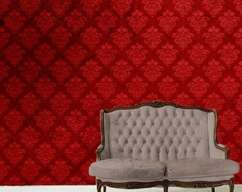 Removable Wallpaper- Stiletto- Peel & Stick Self Adhesive Fabric Temporary Wallpaper-Repositionable-Reusable- FAST. EASY.