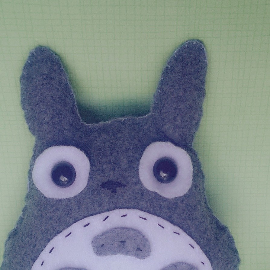 My Neighbor Totoro Little Kawaii Grey and White Plush Stuffed