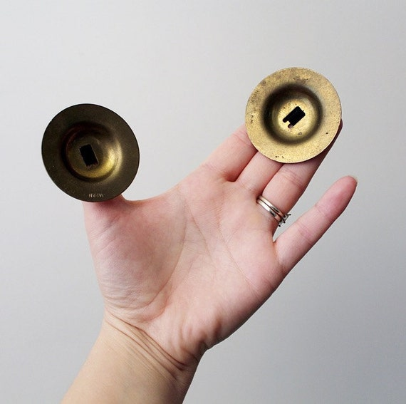 Vintage Brass Finger Cymbals Belly Dancer Finger Cymbals