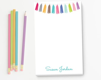 Party Personalized Notepad | Tassel Notes | Custom Stationary | Monogram Note