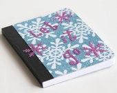 Frozen Sparkling Snowflakes Mini Journal Let It Go Notebook