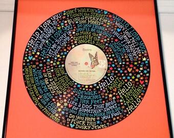 The Doors Hello I Love You Lyrics Handpainted Vinyl Record