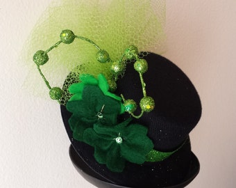 Lucky Lady Mini Top Hat Fascinator