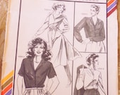 Stretch and Sew 1599 shirtwaist dress, blouse pattern multi size button front blouse, button front dress, Ann Person, stretch knits