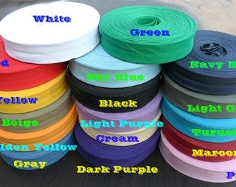 "Vintage Cotton  Bias Binding Tape Folded - 25 mm width ( 1"") x 25 meter Length ( 27 Yards)"