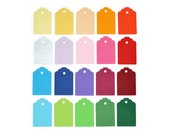 Set of mini gift tags in rainbow colors for packaging or scrapbooking - choose the quantity