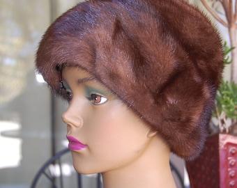 Vintage fur hat fashionable classy FRANKLIN SIMON SALON