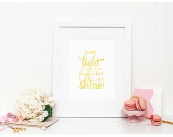 """Watercolor Art - """"This Little Light of Mine"""" - Mirabelle Creations"""