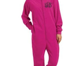Adult Fleece Loungers Pajamas - Monogrammed
