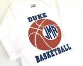Monogrammed Basketball Onesie - Personalized Team Onesie - Personalized Onesie - Sport Onesie - Team Baby -