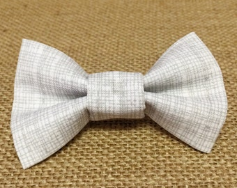 Grey Intersect Baby Boy Bow Tie