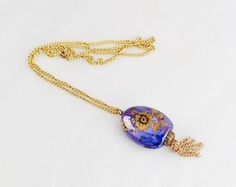 Lord Nelson Purple Pomander Pendant Necklace