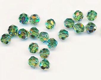 Twelve dazzling limited edition Swarovski crystals: art 5000 - 8 mm - erinite AB 2X