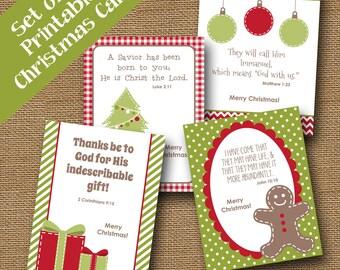 Kids Printable Christmas Cards | Christmas Scriptures for Children | Christmas Bible Verses | DIY PRINTABLE | Christian Christmas Cards