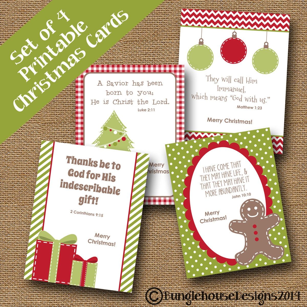 Kids Printable Christmas Cards Christmas Scriptures For
