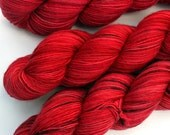 "Kettle Dyed Sock Yarn, Superwash Merino Fingering Weight, in ""A Dozen Roses"""