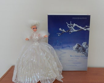 Vintage Barbie Doll Snow Princess Barbie Limited Edition Collectible Mattel