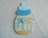 Baby Boy shaped bottle blue