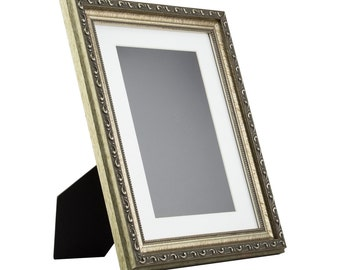 craig frames 85x11 inch antique silver standing picture frame mat with 6x9 inch single opening 125 wide 66618511easel1