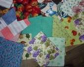 Vintage Fabric Rectangles (51) free shp