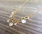 Padma - Delicate 14k Gold & Sterling Silver Necklace