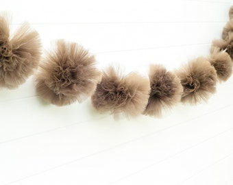 Brown garland Party decorations, weddings, baby showers, room decor