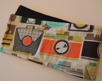 WeeWrap Dog Diaper Belly Band, Retro Camera Fabric, Personalized, Fast Shipping