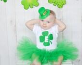 St.Patricks Tutu Set, St.Patties Set, St.Patricks Tutu, Initial Tutu set, Baby St.Patricks Set, Bodysuit Tutu Set, Girls St.Patties Set