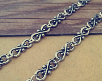 3ft  Antique silver Chain Fancy Tibetan Chain Necklace 11mmx16mm