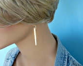 New Long Gold Bar Earrings - Simple - Chic - Minimalist