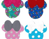 Minnie iron on fabric appliques DIY - small