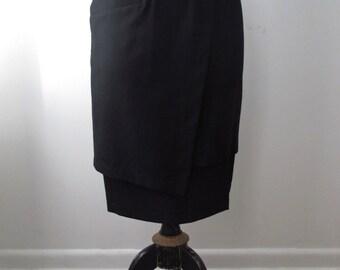 Xiao Studio Elegant Tiered Black Skirt